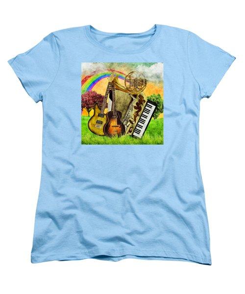 Musical Wonderland Women's T-Shirt (Standard Cut) by Ally White