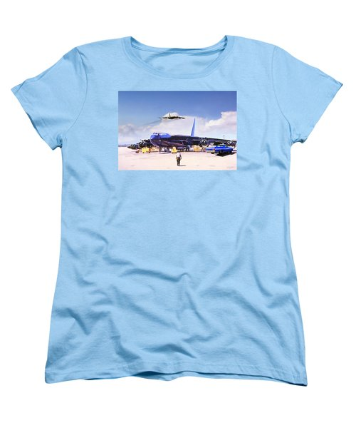 Women's T-Shirt (Standard Cut) featuring the digital art My Baby B-52 by Peter Chilelli