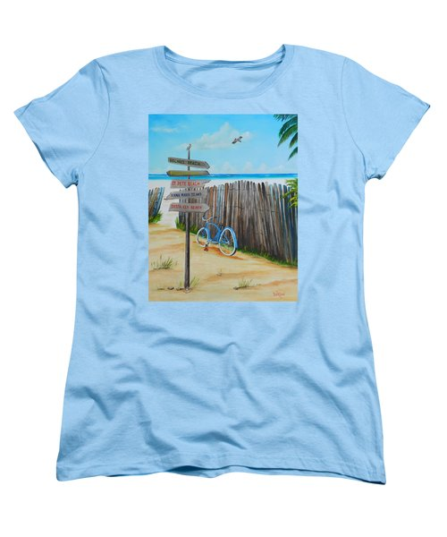 My Favorite Beaches Women's T-Shirt (Standard Cut) by Lloyd Dobson