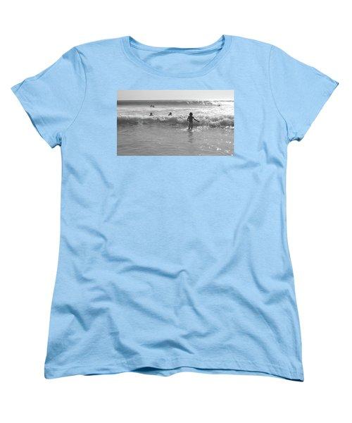 My Fist Time In The Sea Women's T-Shirt (Standard Cut) by Beto Machado