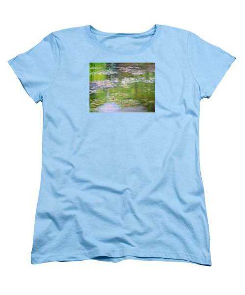 Women's T-Shirt (Standard Cut) featuring the painting My Giverny by Sandra Nardone