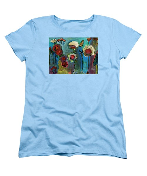 Women's T-Shirt (Standard Cut) featuring the painting My Mother's Garden by Susan Stone