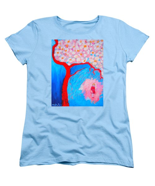 Women's T-Shirt (Standard Cut) featuring the painting My Spring by Ana Maria Edulescu