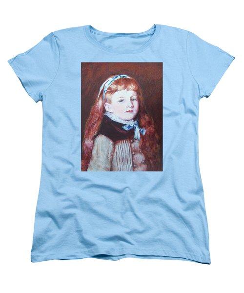 Women's T-Shirt (Standard Cut) featuring the mixed media My Version Of A Renoir by Constance DRESCHER