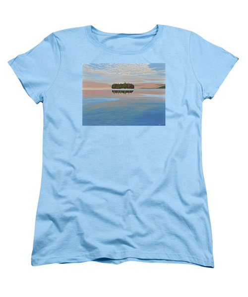 Women's T-Shirt (Standard Cut) featuring the painting Mystic Island by Kenneth M  Kirsch