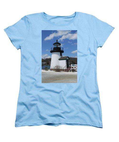 Mystic Lighthouse Women's T-Shirt (Standard Cut) by Gordon Mooneyhan