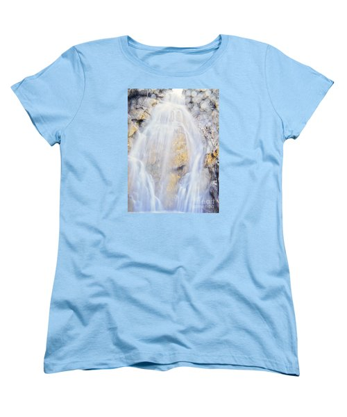 Women's T-Shirt (Standard Cut) featuring the photograph Mystical Falls by Janie Johnson
