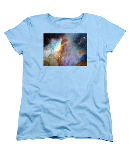 Women's T-Shirt (Standard Cut) featuring the painting N11b Large Magellanic Cloud by Allison Ashton