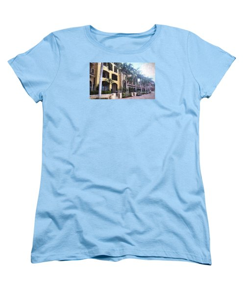 Naples On The Waterfront Women's T-Shirt (Standard Cut) by Rena Trepanier