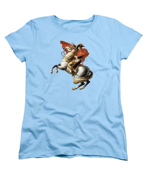 Napoleon Bonaparte On Horseback Women's T-Shirt (Standard Cut) by War Is Hell Store