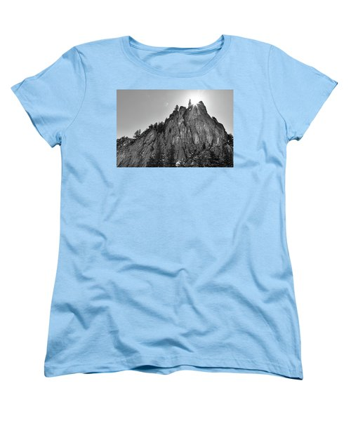 Women's T-Shirt (Standard Cut) featuring the photograph Narrows Pinnacle Boulder Canyon by James BO Insogna