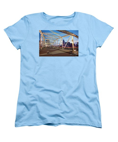 Women's T-Shirt (Standard Cut) featuring the photograph Nashville Bridge II by Brian Jannsen