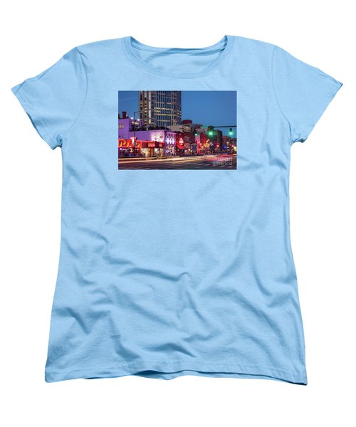 Women's T-Shirt (Standard Cut) featuring the photograph Nashville - Broadway Street by Brian Jannsen