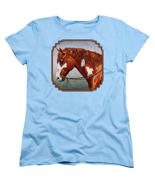 Native American War Horse Phone Case Women's T-Shirt (Standard Fit)