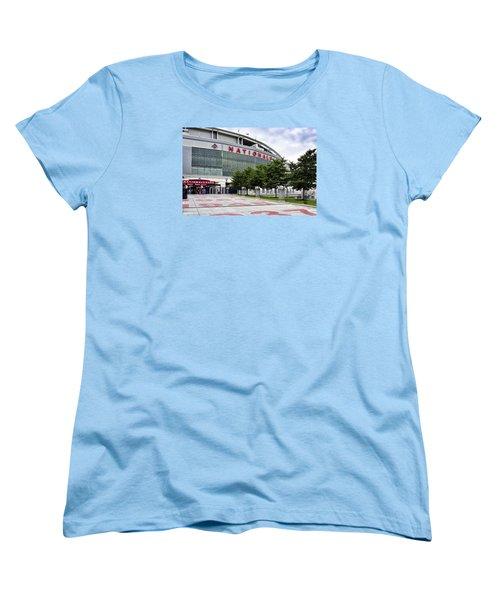 Nats Park - Front Entrance  Women's T-Shirt (Standard Cut) by Brendan Reals