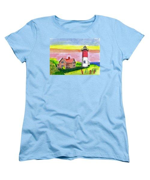 Nauset Point Lighthouse Women's T-Shirt (Standard Cut)