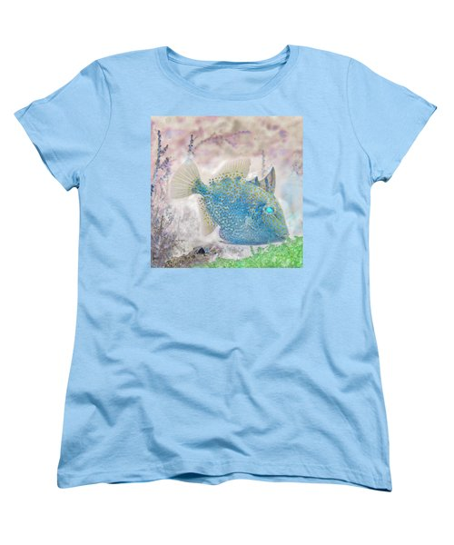 Women's T-Shirt (Standard Cut) featuring the photograph Nautical Beach And Fish #2 by Debra and Dave Vanderlaan