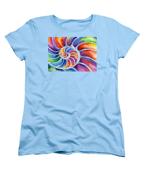 Nautilus Women's T-Shirt (Standard Cut) by Stephen Anderson