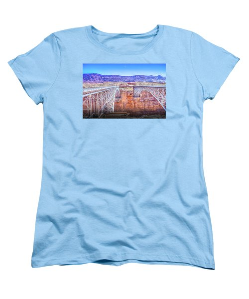 Navajo Bridge Women's T-Shirt (Standard Cut) by Mark Dunton