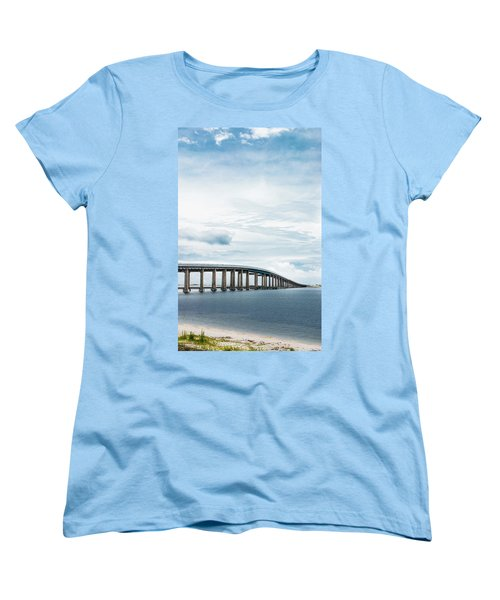 Women's T-Shirt (Standard Cut) featuring the photograph Navarre Bridge In Florida On The Sound Side by Shelby Young