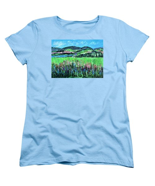 Women's T-Shirt (Standard Cut) featuring the painting Near Cooperstown by Betty Pieper