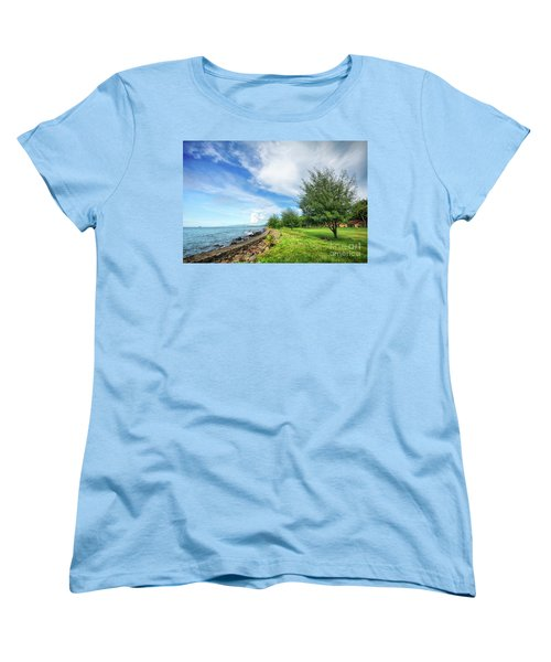 Women's T-Shirt (Standard Cut) featuring the photograph Near The Shore by Charuhas Images