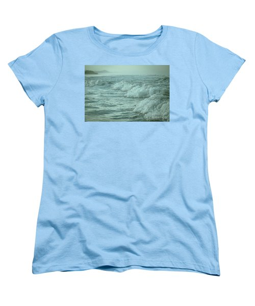 Near Waves Women's T-Shirt (Standard Cut) by Iris Greenwell