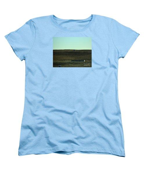 Women's T-Shirt (Standard Cut) featuring the photograph Nebraska Corn Rows by Mark McReynolds