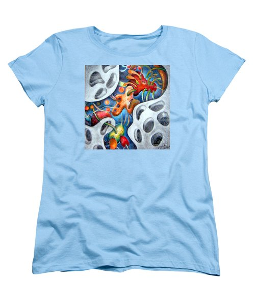 Neighborhood Block Party  Women's T-Shirt (Standard Cut) by Linda Shackelford