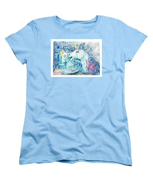 Neptune's Horses Women's T-Shirt (Standard Cut)