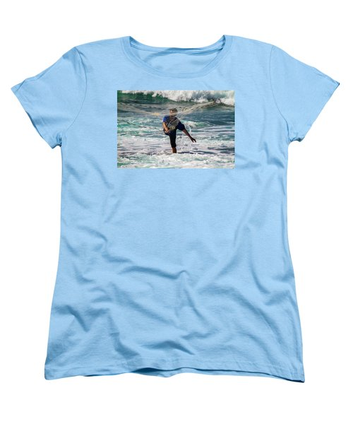 Net Fishing Women's T-Shirt (Standard Cut) by Roger Mullenhour