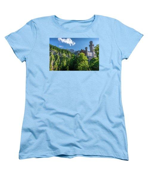 Women's T-Shirt (Standard Cut) featuring the photograph Neuschwanstein Castle by David Morefield