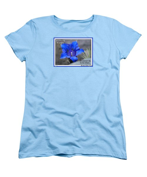 Women's T-Shirt (Standard Cut) featuring the digital art Never Be Cruel by Holley Jacobs