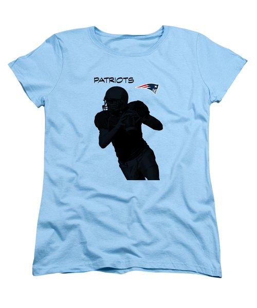 Women's T-Shirt (Standard Cut) featuring the digital art New England Patriots Football by David Dehner