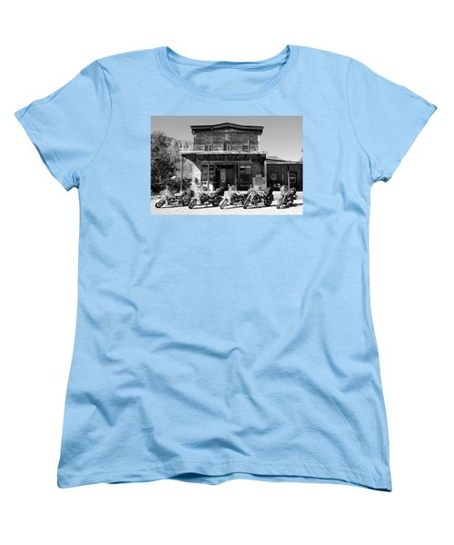 New Horses At Bedrock Women's T-Shirt (Standard Cut) by David Lee Thompson