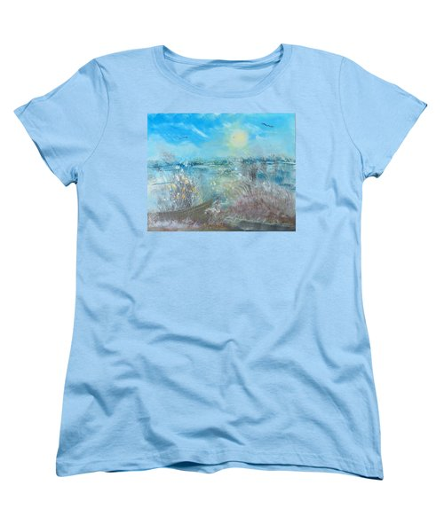 Boat In The Bay Women's T-Shirt (Standard Cut)