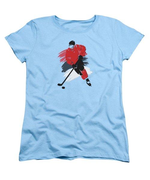 New Jersey Devils Player Shirt Women's T-Shirt (Standard Cut) by Joe Hamilton