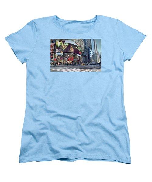 New York City - Broadway And 42nd St Women's T-Shirt (Standard Cut) by Dyle Warren