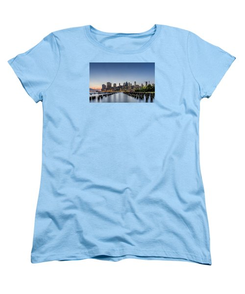New York City Dusk Women's T-Shirt (Standard Cut) by Rafael Quirindongo