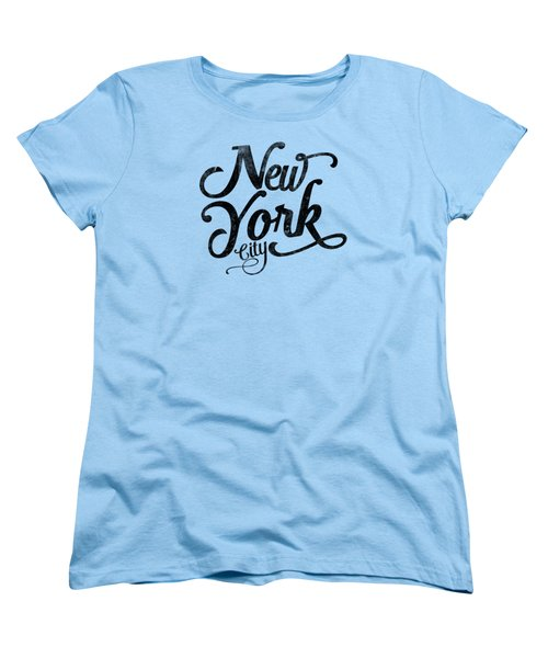 New York City Vintage Typography Women's T-Shirt (Standard Cut) by Wam