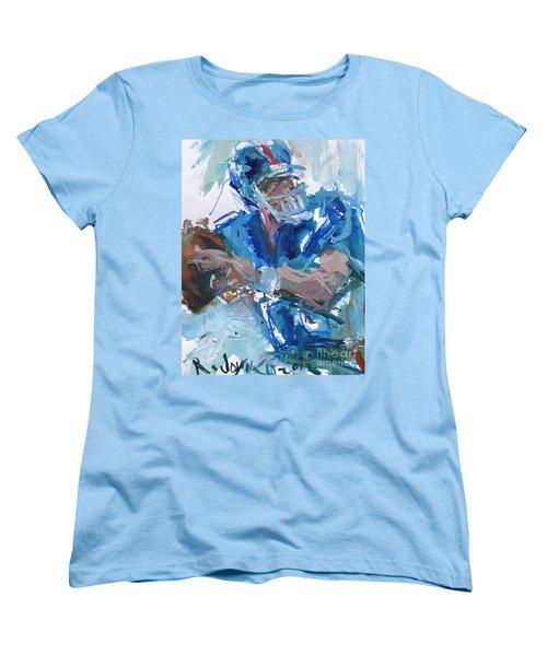 New York Giants Artwork Women's T-Shirt (Standard Cut) by Robert Joyner