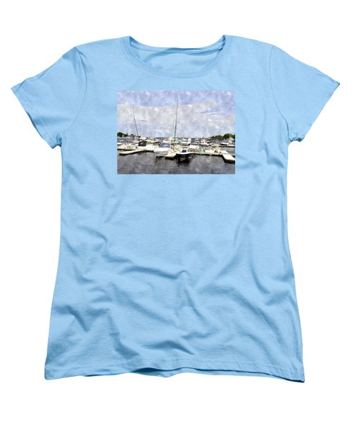 Newburyport Harbor Nhwc Women's T-Shirt (Standard Cut)