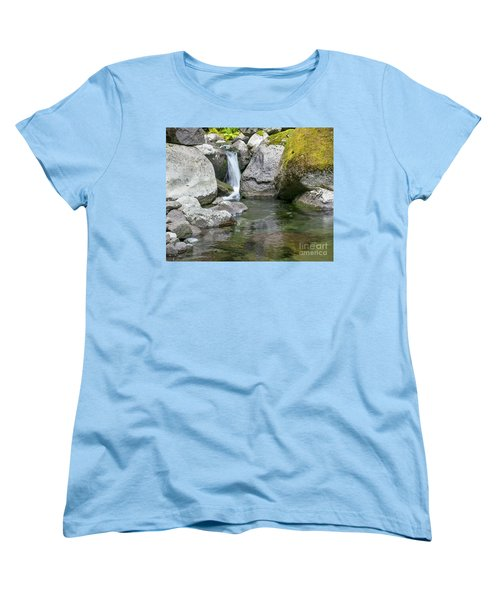 Nickel Creek 1019 Women's T-Shirt (Standard Cut) by Chuck Flewelling