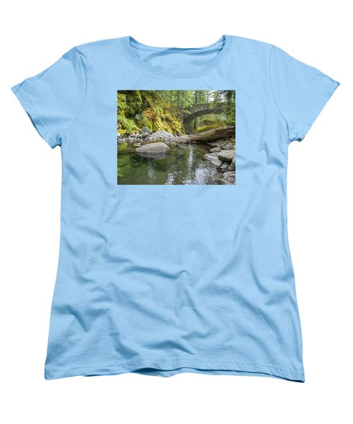 Nickel Creek 1024 Women's T-Shirt (Standard Cut) by Chuck Flewelling