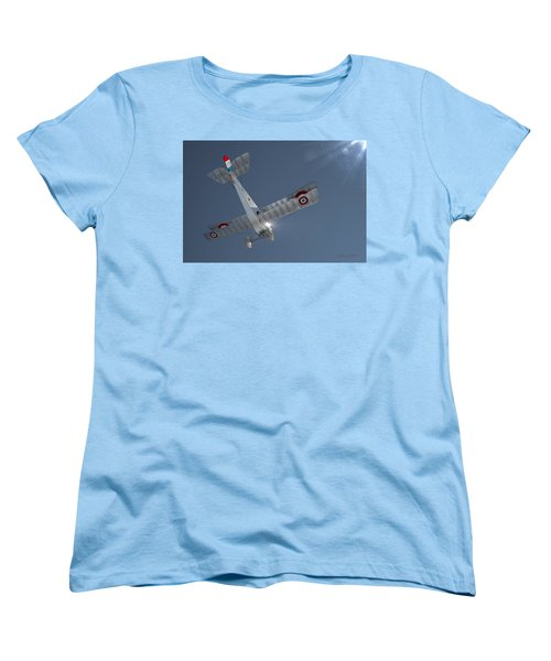 Nieuport 17 In The Blue Sky Women's T-Shirt (Standard Cut) by David Collins
