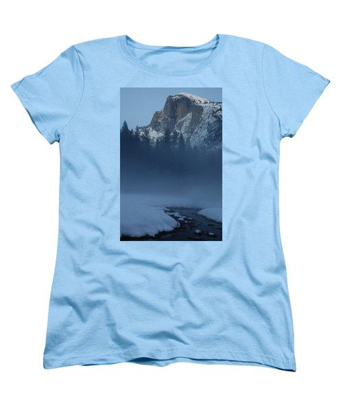 Women's T-Shirt (Standard Cut) featuring the photograph Night Falls Upon Half Dome At Yosemite National Park by Jetson Nguyen