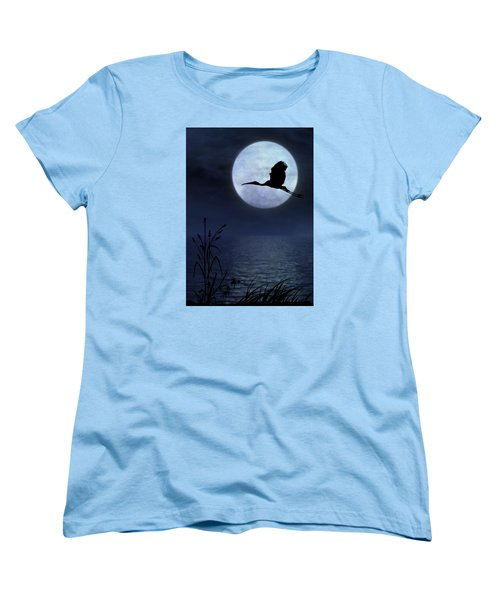 Night Flight Women's T-Shirt (Standard Cut) by Christina Lihani