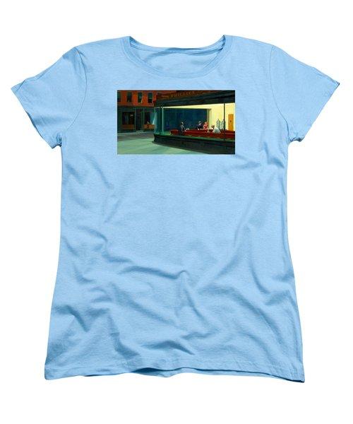 Night Hawks Women's T-Shirt (Standard Cut) by Edward Hopper