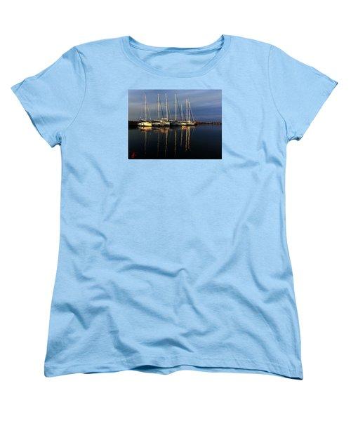 Night On Paros Island Greece Women's T-Shirt (Standard Cut) by Colette V Hera  Guggenheim