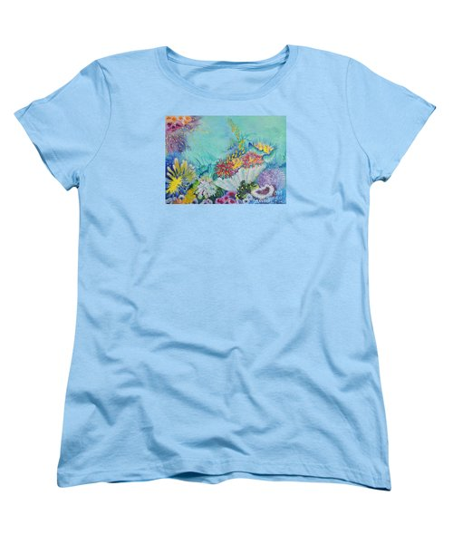 Women's T-Shirt (Standard Cut) featuring the painting Ningaloo Reef by Lyn Olsen